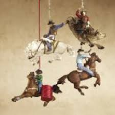 rodeo ornaments for your tree or rearview mirror places