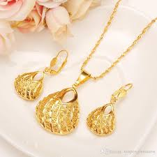 jewellery necklace earring sets images 2018 fashion bag pendant earring set women party gift real 24k jpg