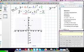 graphing quadratic transformations grade 10 academic lesson 4 4