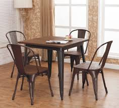 amalfi stackable steel side chair set of 4