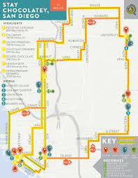 San Diego Map Neighborhoods by Stay Chocolatey San Diego U2014 Bikabout