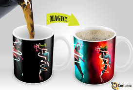 magic coffee mugs travel mug heat sensitive color changing