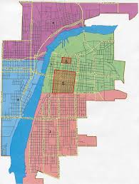 Bay City Michigan Map by Districts Bay City Mi