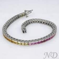 colored tennis bracelet images Multi color sapphire tennis bracelet jpg