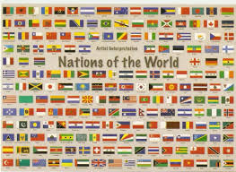 Conutry Flags Postcard A La Carte Wanted Country Flags