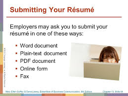 Submit Your Resume Online by The Job Search Résumés And Cover Letters Ppt Download