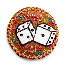 birthday cookie cake the great cookie 21st birthday custom cookie cake
