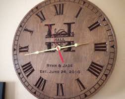 anniversary clocks engraved personalized gifts decor by rchgifts on etsy