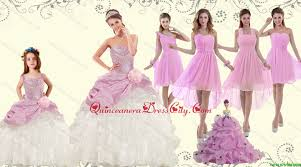 quince dama dresses ruffles multi color quinceanera dress and pink dama