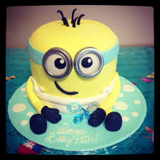 minion baby shower minion dave baby shower cake time covering a barrel