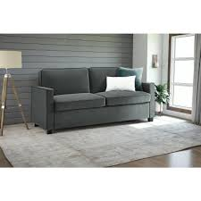 dhp casey queen size grey velvet sleeper sofa 2155457 the home depot
