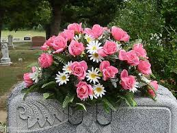 cemetery flowers cemetery headstone silk flower saddle arrangement wreath pink
