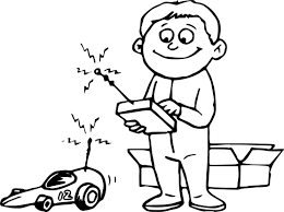 remote toy car child coloring wecoloringpage
