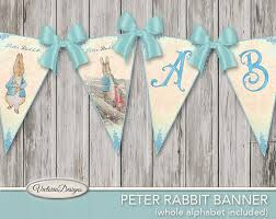 rabbit banner printable rabbit banner bunting beatrix potter party