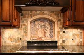 kitchen backsplash murals chic decorative tile kitchen backsplash with floral pattern murals