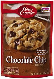 betty crocker cookie mix chocolate chip 17 5 oz pouch walmart com