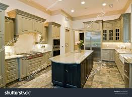 luxury kitchen furniture luxury kitchen new cabinets slate floor stock photo 248188000