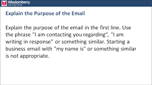 Writing A Business Email by Introduce Yourself In A Business Emails Youtube