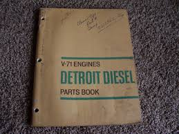 detroit diesel series v 71 v71 engine parts catalog manual 6 8 12