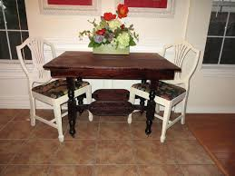 Refinish Dining Chairs Refinished Dining Room Sets Jcemeralds Co