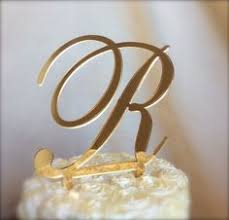 gold monogram cake toppers 3 6 swarovski mosaic style monogram cake topper any letter from