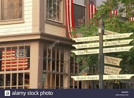 Porch Flags Na Usa Massachusetts Nantucket Island Nantucket Town Road