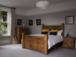 Rustic Wooden Beds Plank Wooden Bed If I Could Afford To My House Would Be Decked