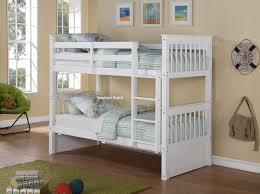 White Wooden Bunk Bed Deluxe Bunk Bed Children S Beds Sleepland Beds
