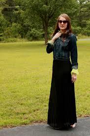 black maxi dress with denim jacket naf dresses