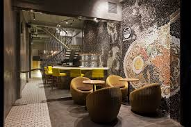 Wall Bar Ideas by Cool Ramen Restaurant In Vietnam Integrating A Mosaic Wall Best