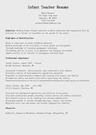 Sample Resume Objectives For Preschool Teachers by Doc Example Resume Teacher Resume Template Free Resumes Cv