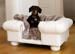 Balmoral White Faux Leather Dog Sofa Bed - Luxury sofa beds uk