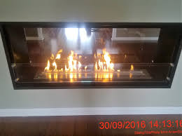 double sided fireplace ventless ethenol