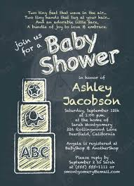 chalkboard baby shower invitation abc alphabet blocks baby yellow
