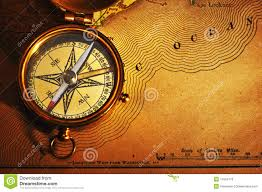 map of usa with compass antique brass compass usa map stock photo image 11604170