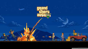 gta pixel art hd desktop wallpaper high definition mobile
