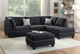 Reversible Sectional Sofa Wayfair Ifin1344 Poundex F6974 Sectional Sofa Black