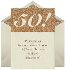 Birthday Invitation Words 50th Birthday Invitation