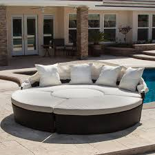 Round Sectional Patio Furniture - amazon com bellagio 4 piece outdoor daybed sectional set patio