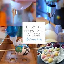 blown easter eggs how to out an egg with 3 easy tricks tinkerlab