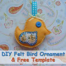 how to make a felt bird ornament with free pattern sewfelt