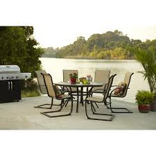Stack Sling Patio Chair Garden Treasures Steel Stackable Patio Dining Chair Sturdy Taupe