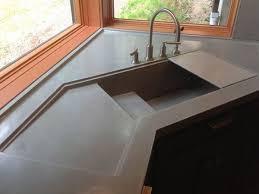 corner kitchen furniture furniture stunning grey concrete corner kitchen sink and curved