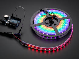 adafruit neopixel digital rgb led strip white 60 led white id