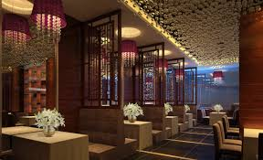 purple lighting and wooden fence in luxury west restaurant