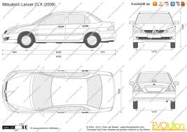 mitsubishi lancer glx the blueprints com vector drawing mitsubishi lancer glx