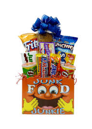 junk food gift baskets junk food junkie gift basket