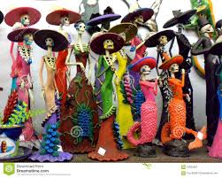 dia de los muertos day of the dead skeletons stock photo