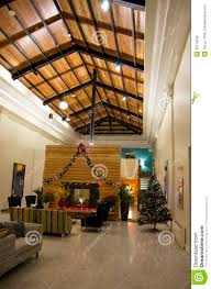apartment lobby christmas tree lights royalty free stock images