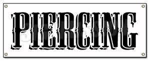 piercing banner sign shop signs gun barbell tattoo body